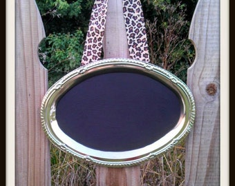 Chalkboard Frame with Ribbon