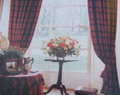 Vintage Curtains Tartan Wool. Scottish.Bright warm and comforting.