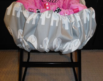 Elephant Shopping Cart / High Chair Cover