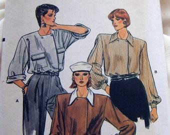 Vogue 9168 uncut size 8 -12 classic ladies blouse pattern