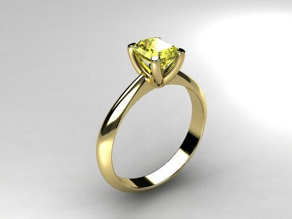 0 58ct Yellow sapphire ring engagement ring by TorkkeliJewellery