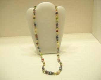 "28"" Plastic Beaded Necklace (4216)"
