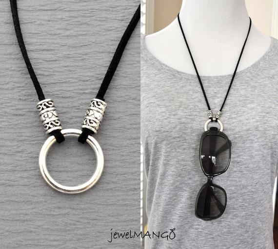 Glasses Frame Holders : eyeglasses necklace eyeglass holder suede leather necklace