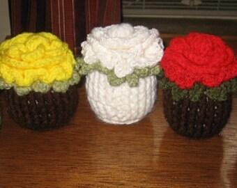 Cup Cake Flowers crochet pattern