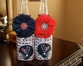 Houston Texans Embellished bottle koozies-