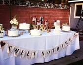 Custom Handmade Bunting - Wedding Banner - Wedding Bunting - Made To Order Pendant Banner