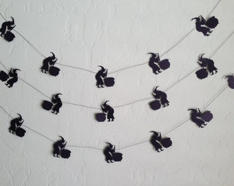 Witch with Cauldren Garland/Banner, Fall Garland, Halloween Garland, I'll get you my Pretty