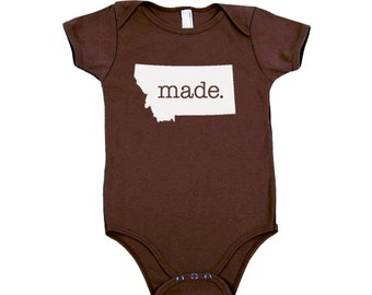 Montana 'Made.' Cotton One Piece Bodysuit - Infant Girl and Boy