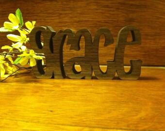 "Inspirational wooden words ""GRACE"""