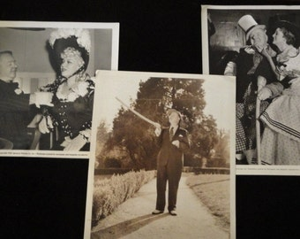 W. C. Fields Publicity Photos, Hollywood Stills, Promotional, Hollywood 1930's