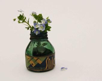 Vintage 1930s Ink bottle, calligraphy, back to school