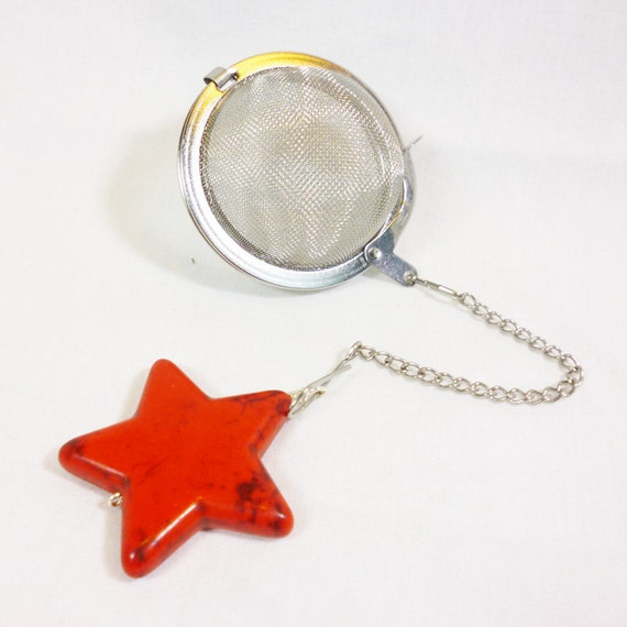 tea infuser with charm by dryadtea on etsy