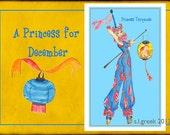 "Princess Turquoise fashion illustration-Greeting Card (5.5""x8"")"