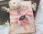 Wedding Guest book with old lace -style vintage shabby 'Vintage Twenties' range - 36