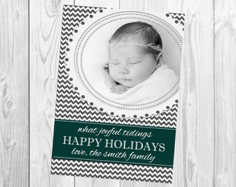 DIY Print Yourself One Photo Holiday Card