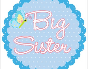 Big Sister Butterfly Sticker