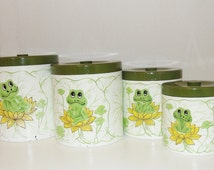 popular items for frog canister on etsy