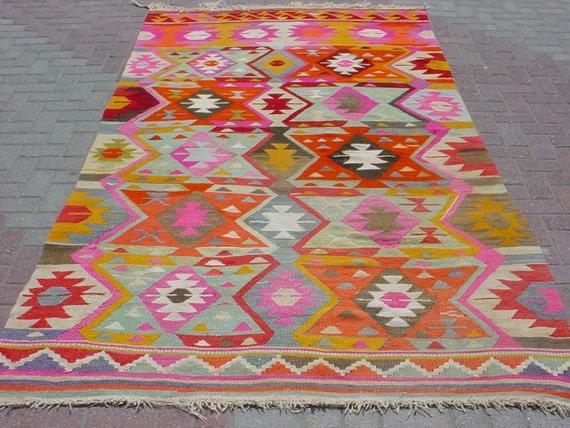 Items Similar To Modern Bohemian Turkish Kilim Area Rug