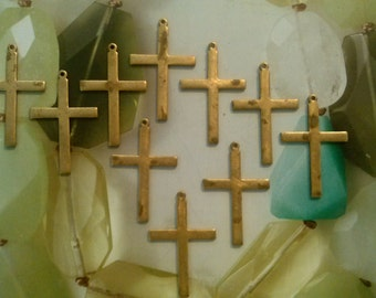 10 Brass Crosses