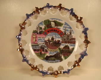 Beautiful Vintage SOUVENIR Quebec CANADA PLATE
