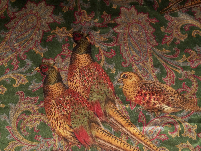 Ralph Lauren Hunting Manor Paisley Velvet Fabric Loden Multi 3