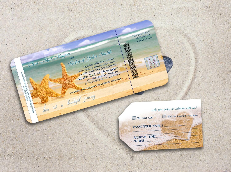 Printable Beach Wedding Invitations: BEACH WEDDING INVITATION Printable By DesignedWithAmore On