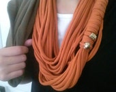 Upcycled Beaded Pumpkin Scarf
