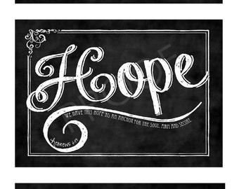 ChalkTypography Prints  (set of three) - Faith, Hope and Love