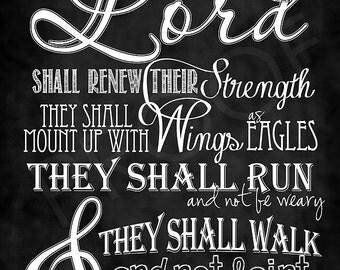 Scripture Art - Isaiah 40:31 (KJV)