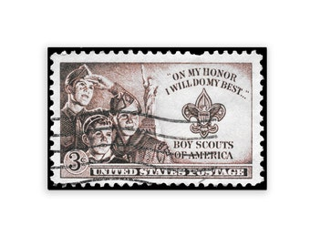 "Vintage Reprint Stamps Series - Boyscouts of America 11"" x 17"""