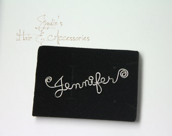Wire art/ personalised name necklace - Jennifer