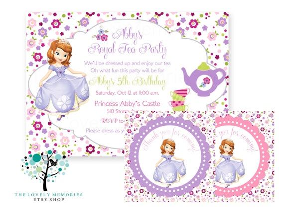 Sofia the first - Princess Birthday tea party theme Party Set ...