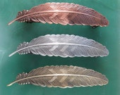 Feather Big Hair 100mm French Barrette- Feather- Hair Accessories- Hair Clip- Hair Barrette