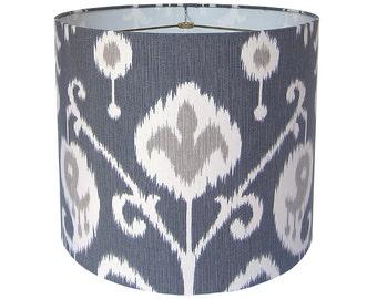 Lamp Shade Ikat Lampshade Magnolia Home Fashions Java Ikat Pewter Made to Order