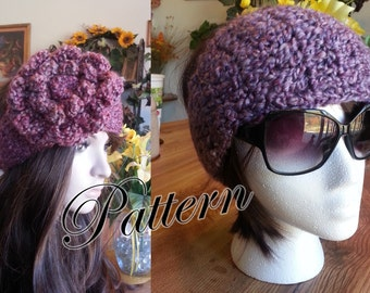 PDF Pattern Crochet End to End Headband Earwarmer Headwrap with Two Button Closure