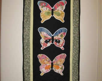 Appliqued Butterfly Wall Hanging 22 x42 inches