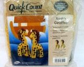 Noah's Giraffes Quick Count Plastic Canvas Kit - Fun and Playful 3D Animals - Noah's Ark