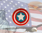 Captain America Emblem - Iron-on Embroidered Comic Book Patch