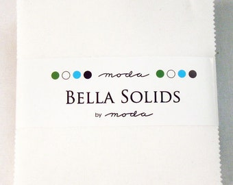 Moda Bella Solids - WHITE - CHARM PACK - #9900-98 - Neutral - Pre-Cut