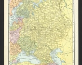 Vintage Map of Russia USSR From 1935 Original
