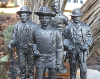 RARE Limited Edition Michael Ricker Pewter Complete Western Series Set of 4 Near MINT SIGNED