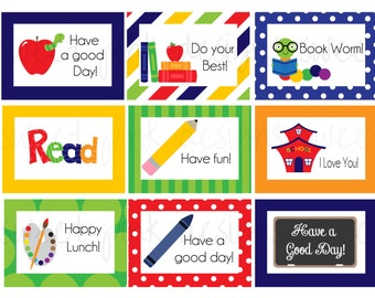 Boy Lunch Box Notes- Printable Lunch Box notes
