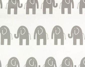 1 yard White /  Grey Elephant - Premier Prints - White Storm Twill Ele - HOME DECOR Weight