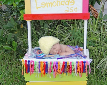 Newborn Wooden Lemonade Stand / Fruit Stand / Kissing Booth