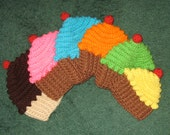 Crochet Cupcake Hat - Free Shipping in the United States