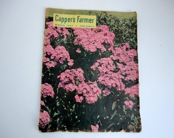 Vintage Garden Magazines Set of 2 Farm 1940s Paper Ephemera Altered art Supplies
