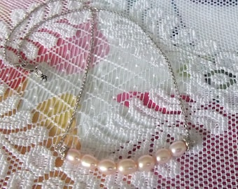 Natural Pink Freshwater Pearl Necklace