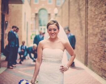 Elegant Bridal Gown Sash Belt