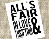 All's Fair in Love and Thrifting Print- Digital Art Print