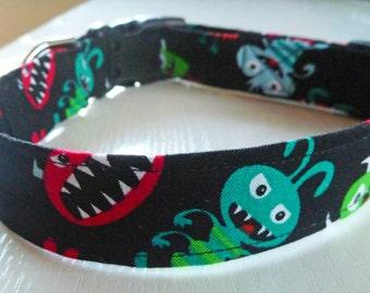 "Halloween Dog Collar - ""Monsters"""